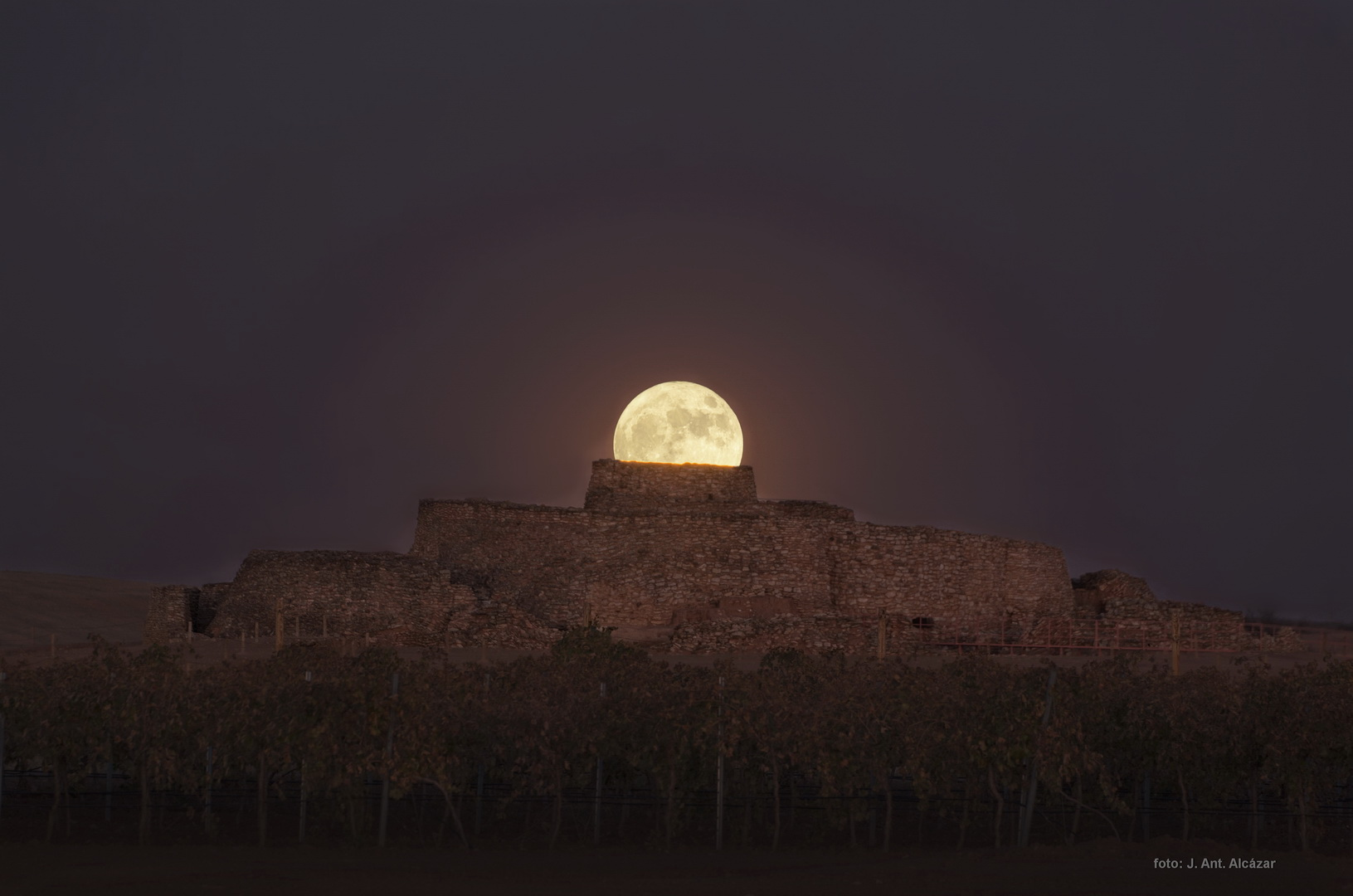 Luna Llena en la Motilla del Azuer