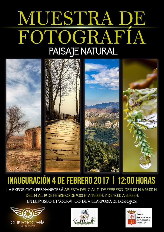 """Cartel de la exposición """"Paisaje Natural"""" del grupo Villaleños"""